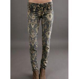 Sold Design Lab Soho Ikat Super Skinny Denim Jeans